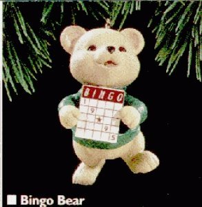 QX5919 Bingo Bear 1995 Hallmark Keepsake (Bingo Ornament)
