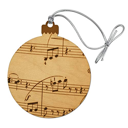 GRAPHICS & MORE Vintage Sheet Music Notes Musical Score Musician Wood Christmas Tree Holiday Ornament (Music Christmas Ornaments Notes)