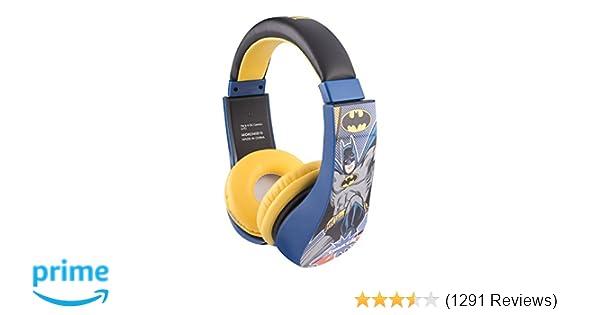 Amazon.com  Batman 30382 Kid Safe Over the Ear Headphone with Volume  Limiter 9e7a44dc5c