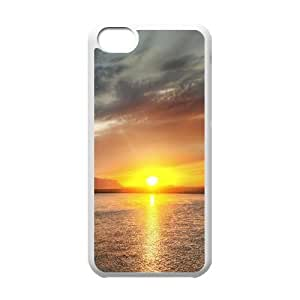Beautiful Sunset Hdr IPhone 5C Cases, Iphone 5c Cases for Girls Antishock Okaycosama - White