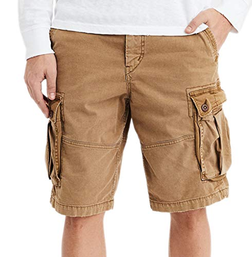 American Eagle Mens 6721214 Ne(x) t Level Longer Lenght Cargo Short, Koko Brown
