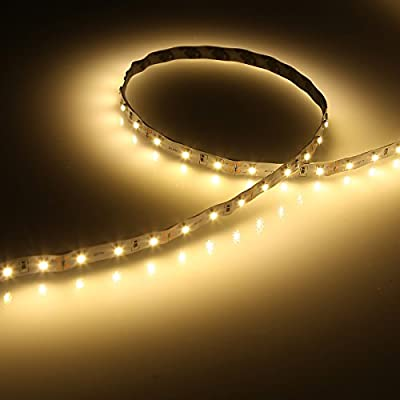 LE 2 Pack 16.4ft Flexible LED Light Strip, 300 Units SMD 2835 LED,12V DC, 3000k Warm White, Non-waterproof, LED Tape, LED Ribbon, DIY Indoor Party Christmas Holiday Home Kitchen Car Bar Decoration