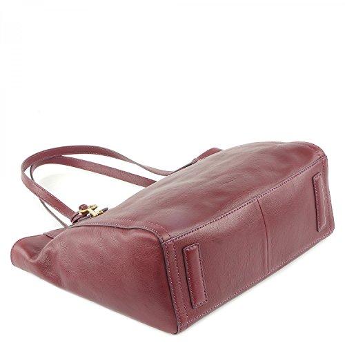 Fossil Emma Tote Rot Damen Handtasche Tasche Shopper Leder Henkeltasche Marken Lederhandtasche Elegant Geräumig