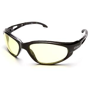 6 Pack Edge Eyewear SW112 Dakura Safety Glasses Black Frames Yellow Lens