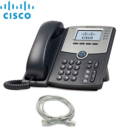 Cisco SPA504G 4-Line IP Business Phone PoE LCD Display with Extra Cat5 Cables Combo