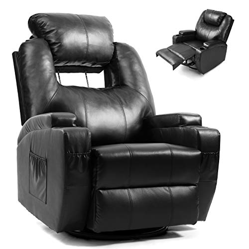 Artist Hand Massage Recliner Chair with Cup Holder Electric Heated Living Room Chair Bedroom Chair Reading Chair Headrest Adjustable Lounge...
