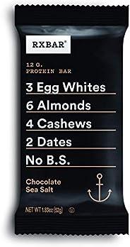 RXBAR, Chocolate Sea Salt, Protein Bar, 1.83 Ounce (Pack of 12), High Protein Snack, Gluten Free