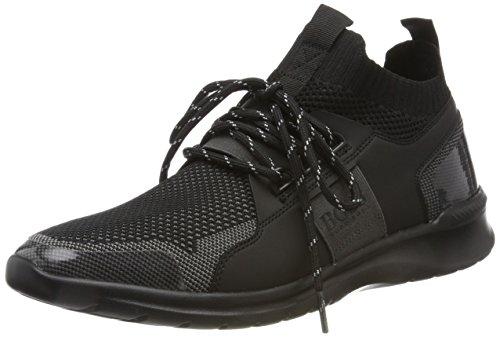 BOSS Athleisure Herren Extreme_Runn_Knit Hohe Sneaker Schwarz (Black)