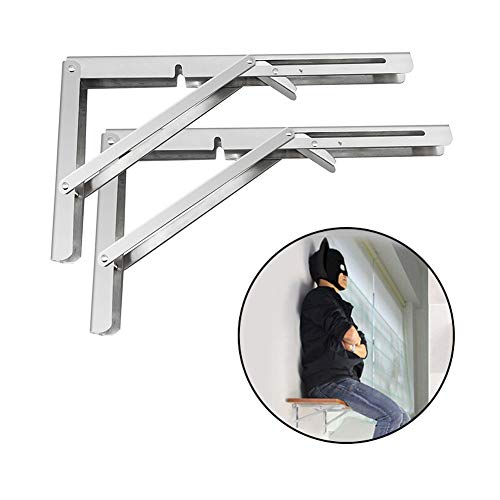 Heavy Duty Folding Shelf Brackets, 2pcs 14