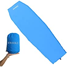SWHIKE Mummy Diamond Pattern Air Mattress Ultra Lightweight Automatically Inflatable Sleeping Pad Camp Mat High Rebound Sponge Comfortable Compact and Portable Great for Camping&Touring&Hiking Blue
