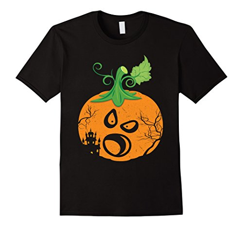 Mens Cute Ghost Scary Face In Pumpkin Halloween Day T-Shirt 5 Medium Black