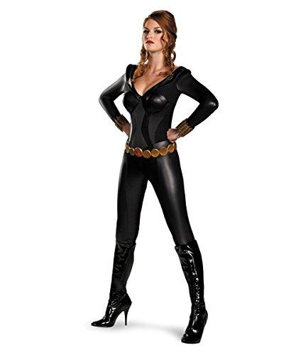 Black Widow Bustier Costume - Large - Dress Size 12-14