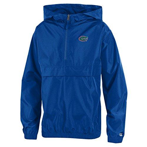 Champion NCAA Florida Gators Youth Boys Packable Jacket, X-Large, Royal Blue