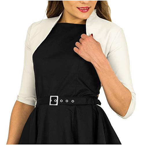 - BlackButterfly Tailored 3/4 Sleeve Bolero (Off-White, US 6)