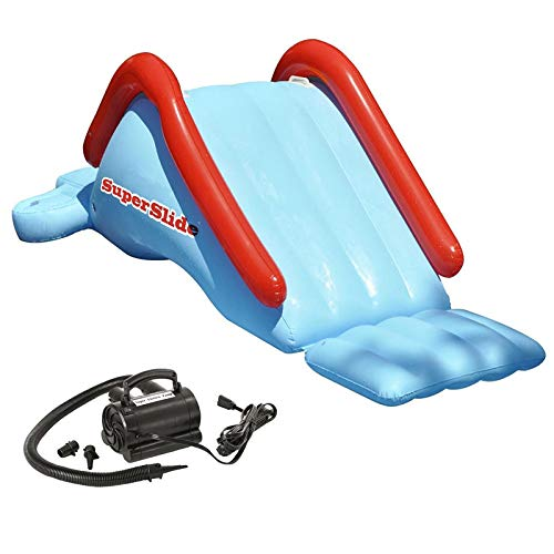 MRT SUPPLY Super Kids Water Slide Swimming Pool Inflatable w/ 110V Air Pump with Ebook