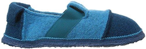 Nanga Berg - Caña baja de lana infantil Azul (Türkis 33)
