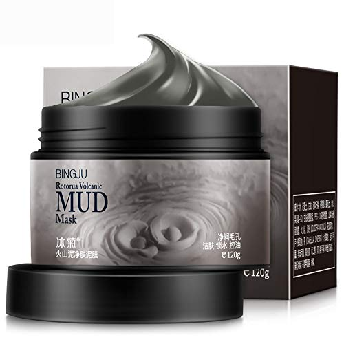 Rotorua Volcanic Black Mud Mask, Natural Mineral-Rich Mask, Deep Pore Cleansing for Face and Body, Purify Skin, Oil Control, 150g (Mask Cleansing Volcanic Mud Deep)