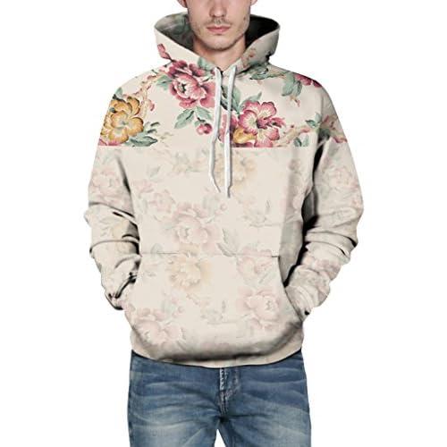 67a3ca8fffa03 Prettyard Men Women Floral Flowers Print Hipster Spring Autumn Hooded  Sweatshirt hot sale