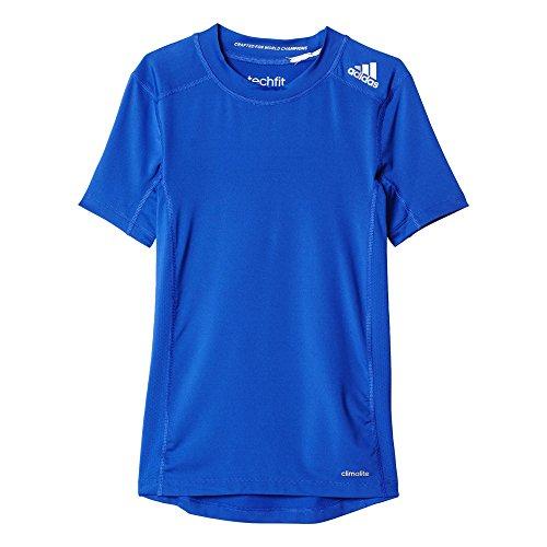adidas Jungen T-Shirt  Techfit Base, Boblue, 152, AK2824