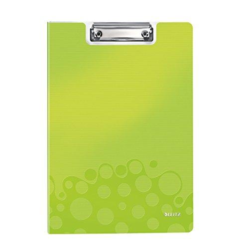 Leitz 41990064 Klemmmappe WOW, A4, grün metallic