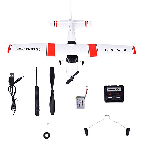 Your Supermart 3CH 2.4GHz Fixed Wing Drone Plane RC Airplane Aircraft Glider Toy for Kids Children Boy Girl as Gift