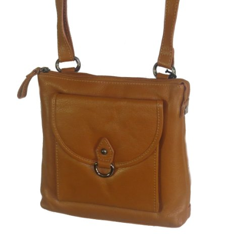 Paul & Taylor Genuine Leather Crossbody Bag with Card Slo...