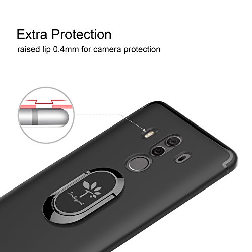 newest collection 26baa 7f0c0 EINFAGOOD Case for Huawei Mate 10 Pro with Metal Ring, Cover for Huawei  Mate 10 Pro, Soft TPU Cover Protection Camera, Shockproof, Waterproof, ...
