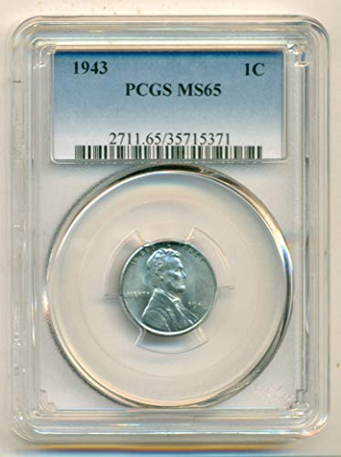 1943 Lincoln Wheat Steel Cent MS65 PCGS
