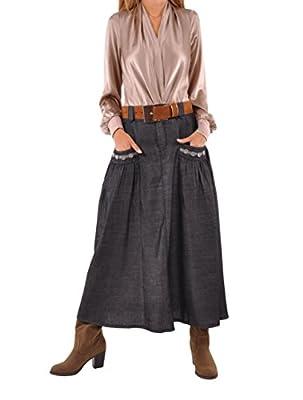 Style J Relaxing Chambray Denim Skirt