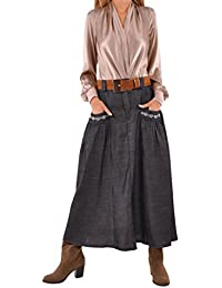 Relaxing Chambray Denim Skirt