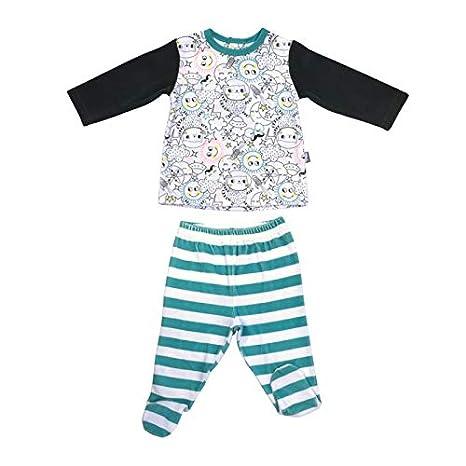 96acea4b053ee Pyjama bébé 2 pièces velours avec pieds Rêveur - Taille - 6 mois (68 ...