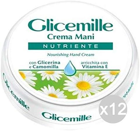 Glicemille Set of 12 Hand Cream 100Ml Skin Care Vase Multicoloured Unique
