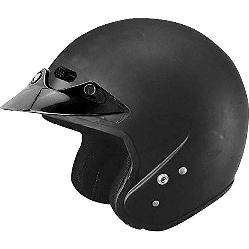 Cyber Helmets U-6 Solid Helmet , Size: 2XS, Primary Color: Black, Helmet Category: Street, Distinct Name: Flat Black, Helmet Type: Open-face Helmets, Gender: Mens/Unisex 641289