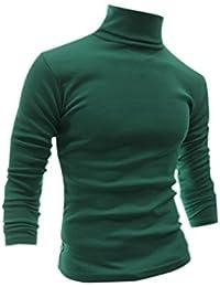 Allegra K Men Turtle Neckline Long Sleeves Slim Fit T-Shirts