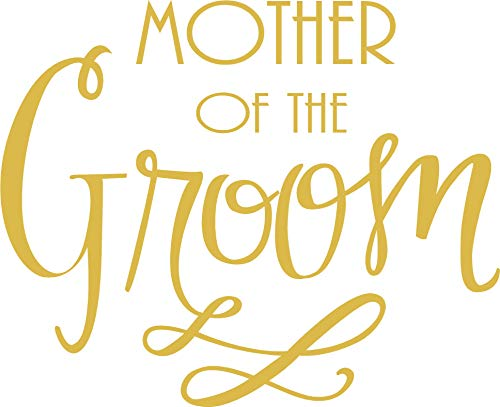 Mother of The Groom - Bachelorette Heat Transfer Iron on Stencils for Wedding (Gold)