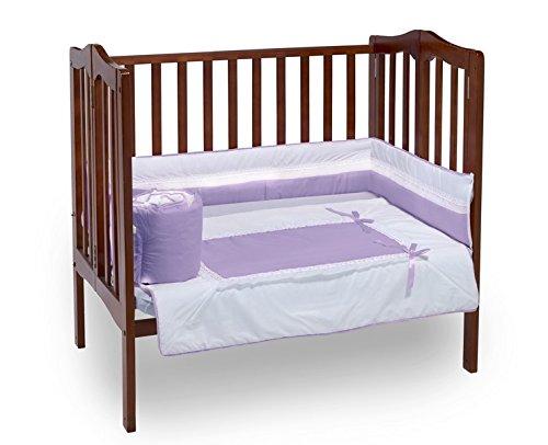 Baby Doll Bedding Royal Mini Crib/ Port-a-Crib Bedding Set, Lavender by BabyDoll Bedding   B00MAZIE10