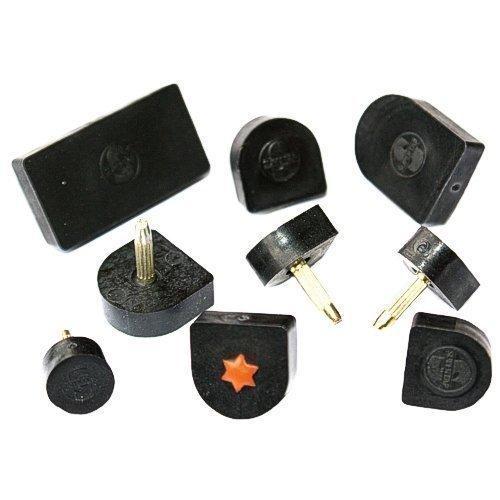 1 Paar Absätze 12 x 12mm (U-Form) schwarz Kunststoff Ersatz Absatz, Stiftflecken,N