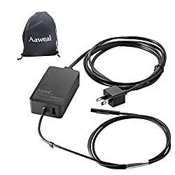 New Surface Pro 5/4/3 Charger 36W 12V 2.58A Aaweal Power Supply Adapter for Microsoft Windows New Surface Pro 5 Pro 4 Pro 3 i5 i7 2017 Model 1625 with a Storage Bag, USB Charging Port