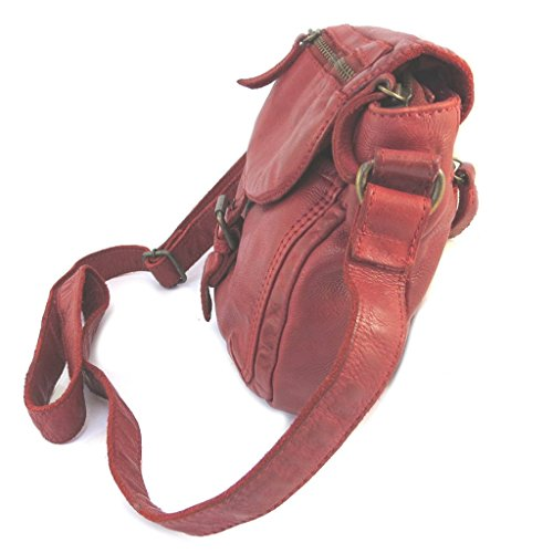 Borsa in pelle Gianni Contiepoca rosso - 26x20.5x6.5 cm.