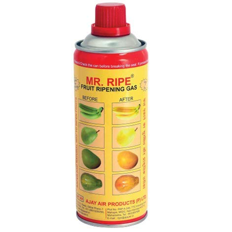 Mr. Ripe Portable Fruit Ripening Can Ethylene Liquefied Spray Gas Canister Use for (Bananas, Mangoes, Pineapple, and All The Tropical Fruits)