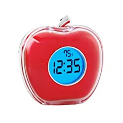 StealStreet SS-KD-2054-RED Multi-Functional Apple Talking Alarm Clock with Temperature, 3, Red
