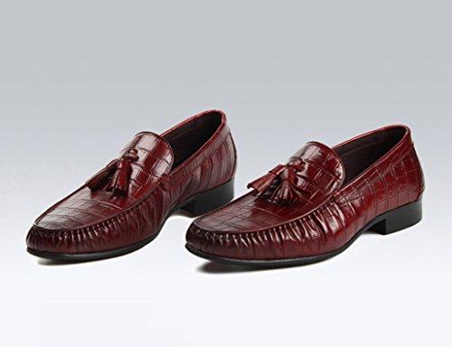Zapatos Clásicos de Piel para Hombre Zapatos de cuero para hombres Negocios Ocio Zapatos de estilo británico en punta solo respirables ( Color : Marrón , Tamaño : EU39/UK6 ) Marrón