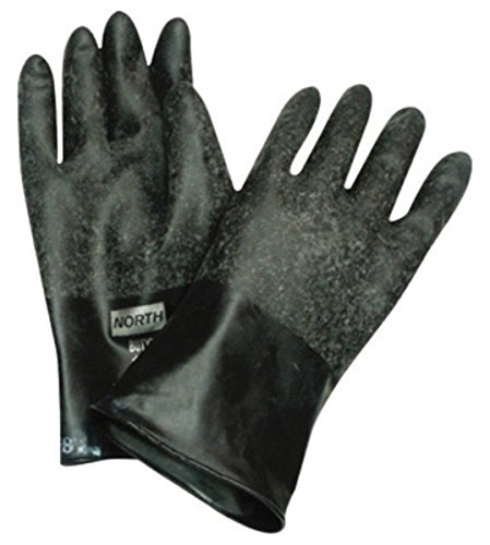 North Safety B174R/9 Honeywell North Butyl Gloves Unsupported, Rough Grip, 14''/17 mil, Size 9 by North Safety (Image #1)