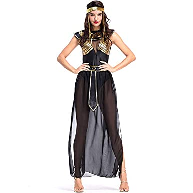 dea5994ff407 Women's Sexy Ancient Egyptian Goddess Isis Cleopatra Costume Adult Fancy  Party Halloween Cosplay Costume Dress: Amazon.co.uk: Clothing