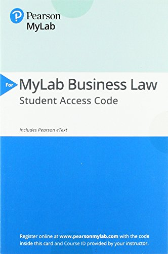MyLab Business Law with Pearson eText -- Access Card -- for Business Law