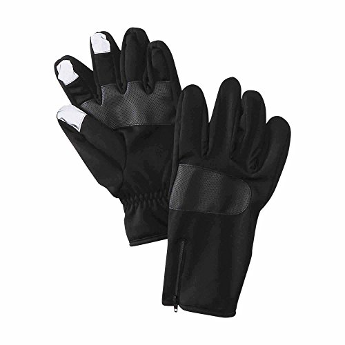 nordictrack-mens-zippered-neoprene-fleece-lined-texting-gloves-black-l-xl