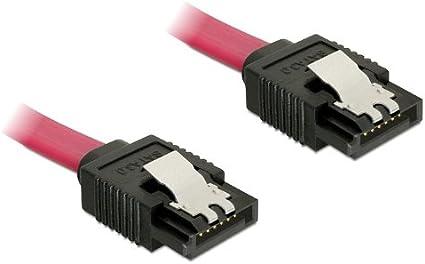 Delock Cable SATA 6Gb-s 30cm red Bored Bored Metal red 0.3m
