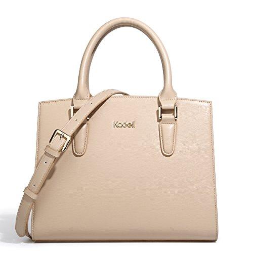 Tote Women Top Vintage Beige Bags Elegant Grey Satchel Shoulder Purse small Handle Leather Kadell Handbags FAXR4f