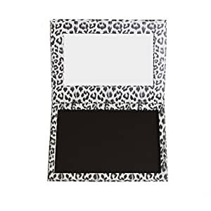 DIY Empty Magnetic Makeup Palette Professional Leopard Eyeshadow Cosmetic Box(White)
