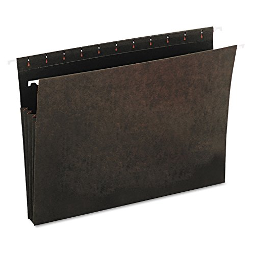 Universal Hanging Box Bottom File Pockets, 11 Point Stock, Letter, Standard Green, 10 per Pack (11 Point Stock Letter)